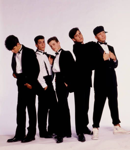 Portrait Of American Pop Group New Kids On The Block Posed Against A New Kids On The Block New Kids Boys Posters