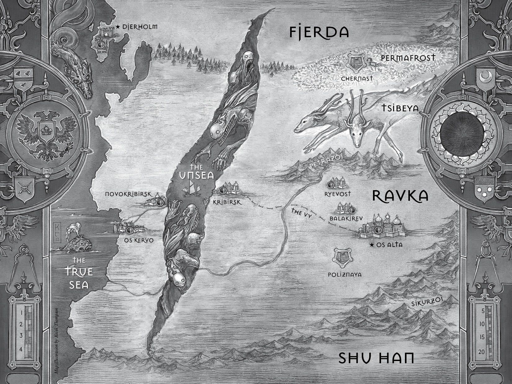 Best fictional worlds in ya young adult fiction pinterest best fictional worlds in ya the grisha trilogyleigh bardugofantasy mapbook fandomsworld gumiabroncs Gallery