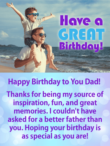 You Are Special Happy Birthday Card For Father Looking For A
