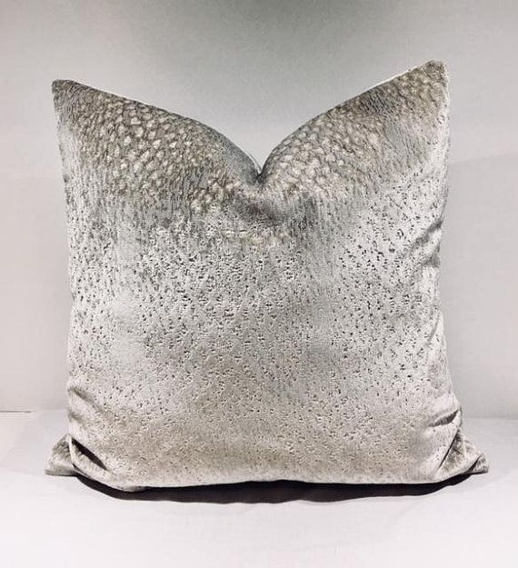 silver pin velvet grey gray by duruhome pillow