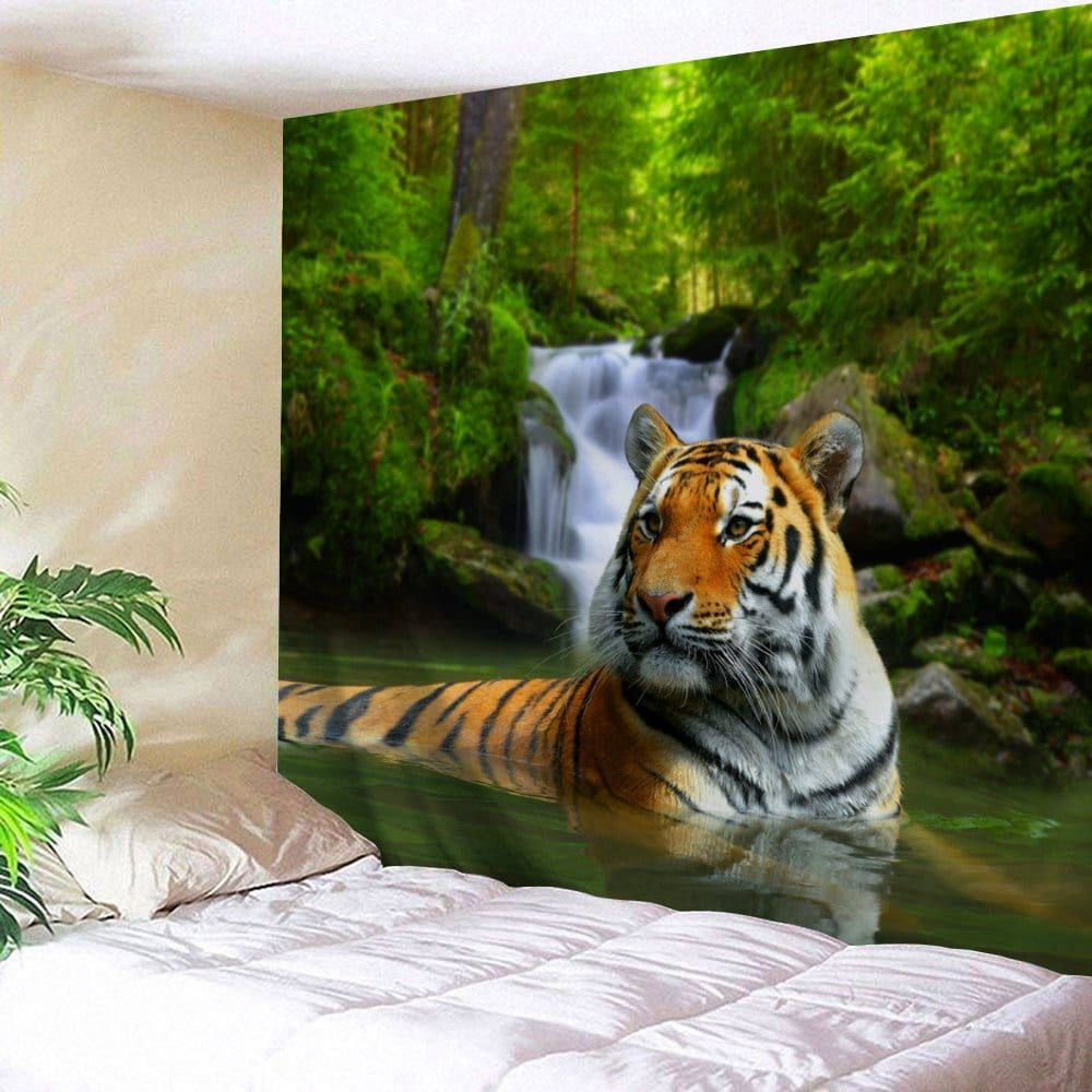 forest tiger print tapestry wall hanging decoration on walls coveralls website id=54587