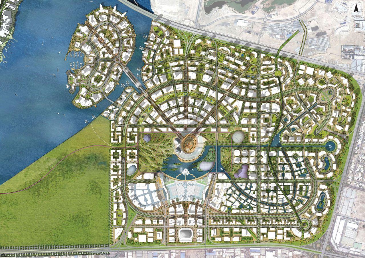 Masterplan Dubai Creek Harbour Masterplan Pinterest