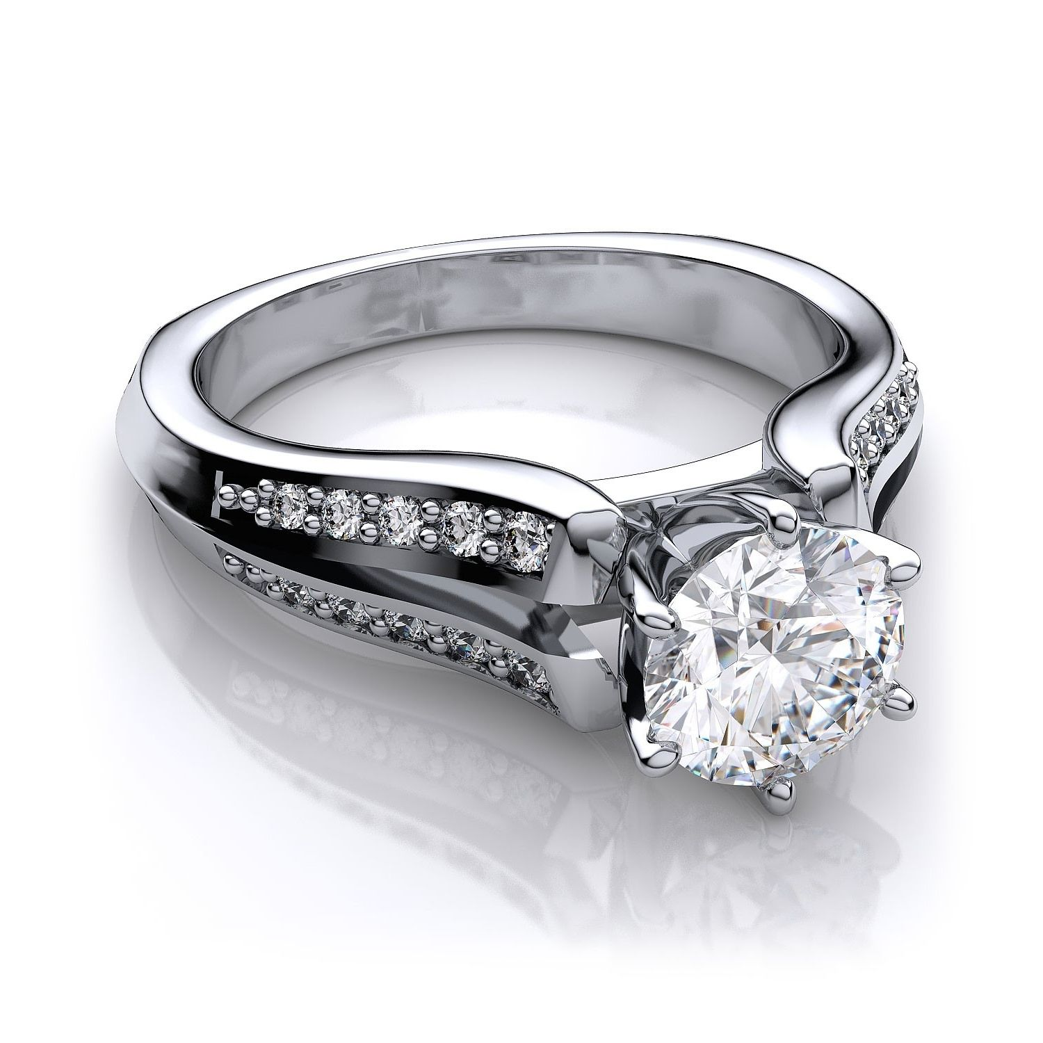 settings tw engagement jewellery zelda setting in artcarved white gold ring
