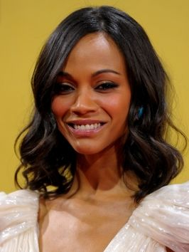 Brilliant Zoe Saldana Soft Curly Bob Hairstyle Is The Perfect Look For Day Hairstyles For Men Maxibearus
