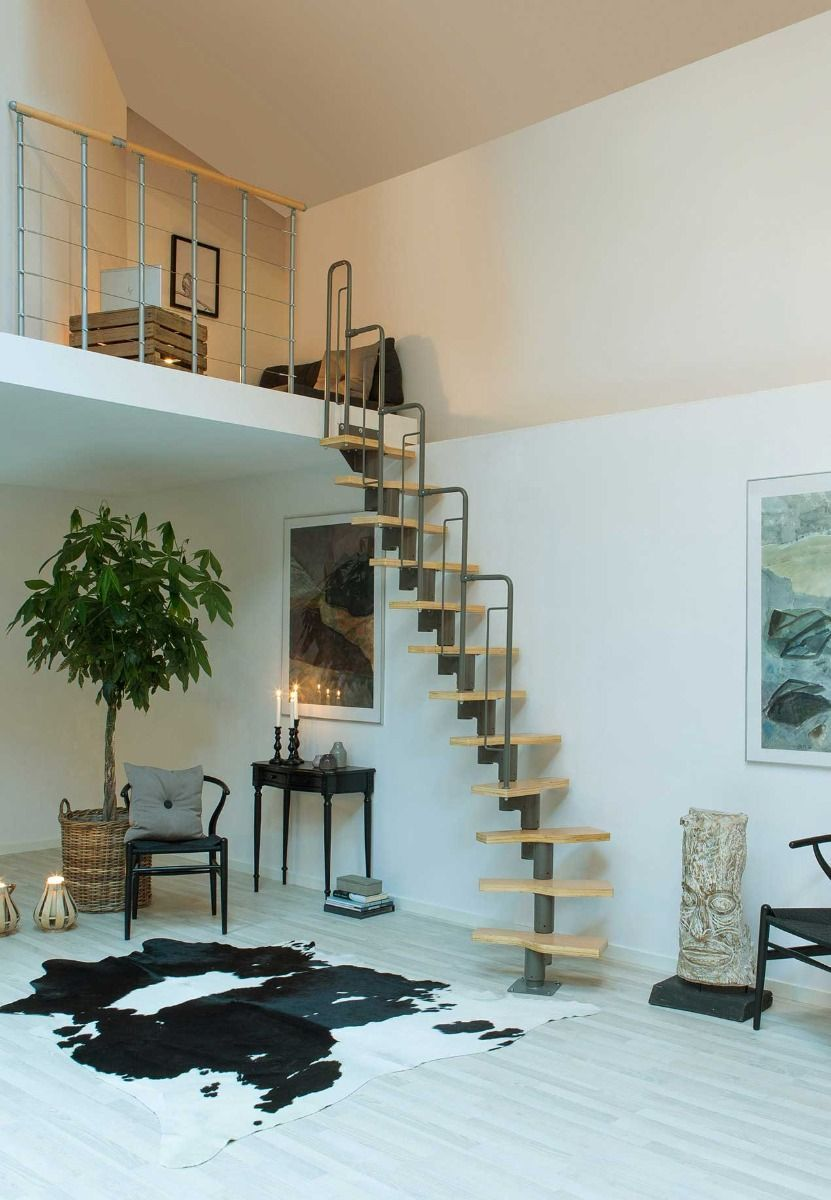 Best Staircase Graz Grey In 2020 Space Saving Staircase 400 x 300