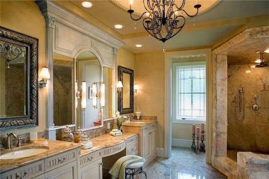High End Bathroom Designs Combined With Luxury Three Way Vanity