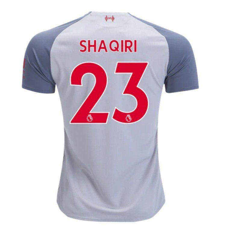 Xherdan Shaqiri 23 Liverpool 2018 2019 Third Jersey By New Balance White New Free Shipping Realmadrid Bayern Football Cri Soccer Jersey Jersey Liverpool