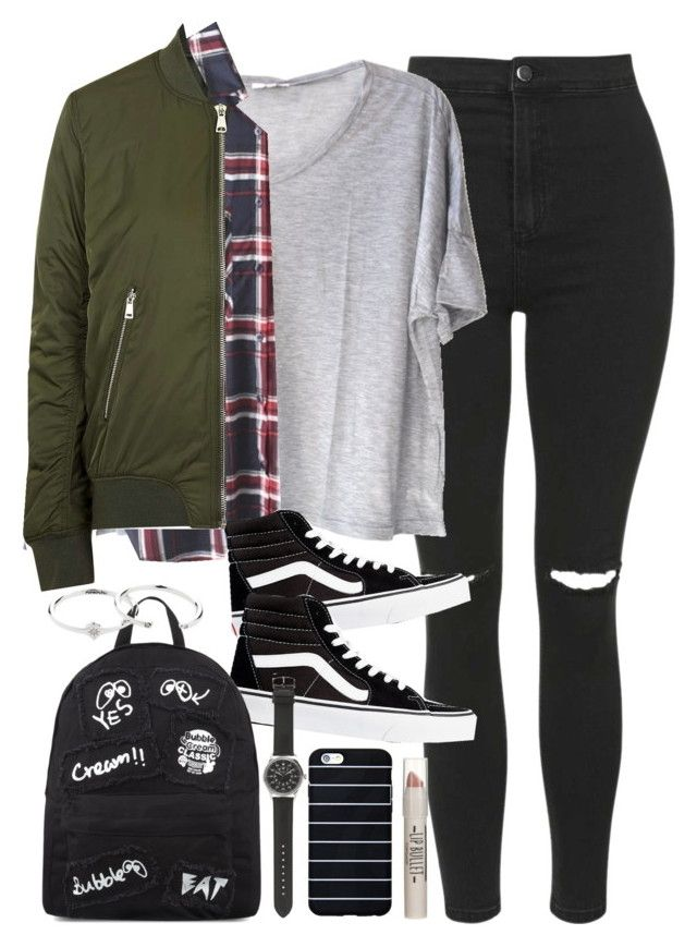 U0026quot;Outfit for university in winteru0026quot; by ferned on Polyvore featuring Topshop Clu WithChic Vans ...