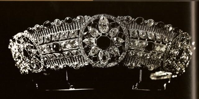 The diamond and ruby tiara from the jewel collection of Grand Duchess Maria Pavlovna. Later owned by Princess Anastasia of Greece.