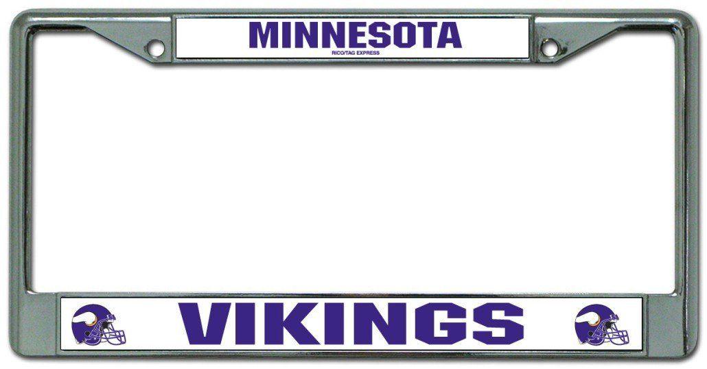 Vikings NFL Chrome License Plate Frames | License plates, License ...