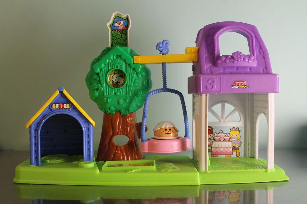 Little People Peek N Discover Dog Tree House Tea Party