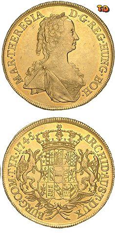 Nt Maria Theresia Gold 10 Dukaten 1745 Wien Coinsnumismatics