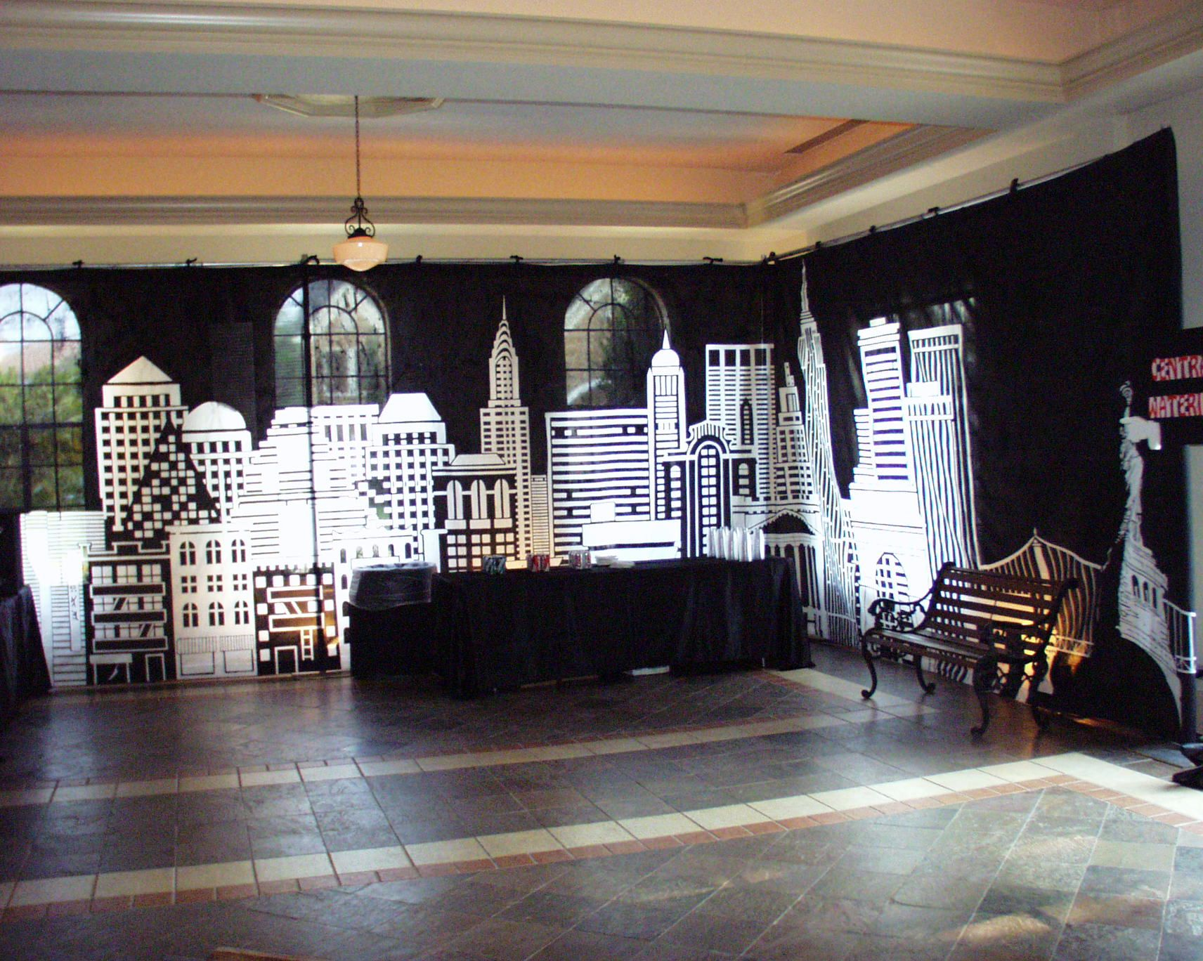 Superhero Backdrop Stage   Superhero Themed Party Planner   Themed ...