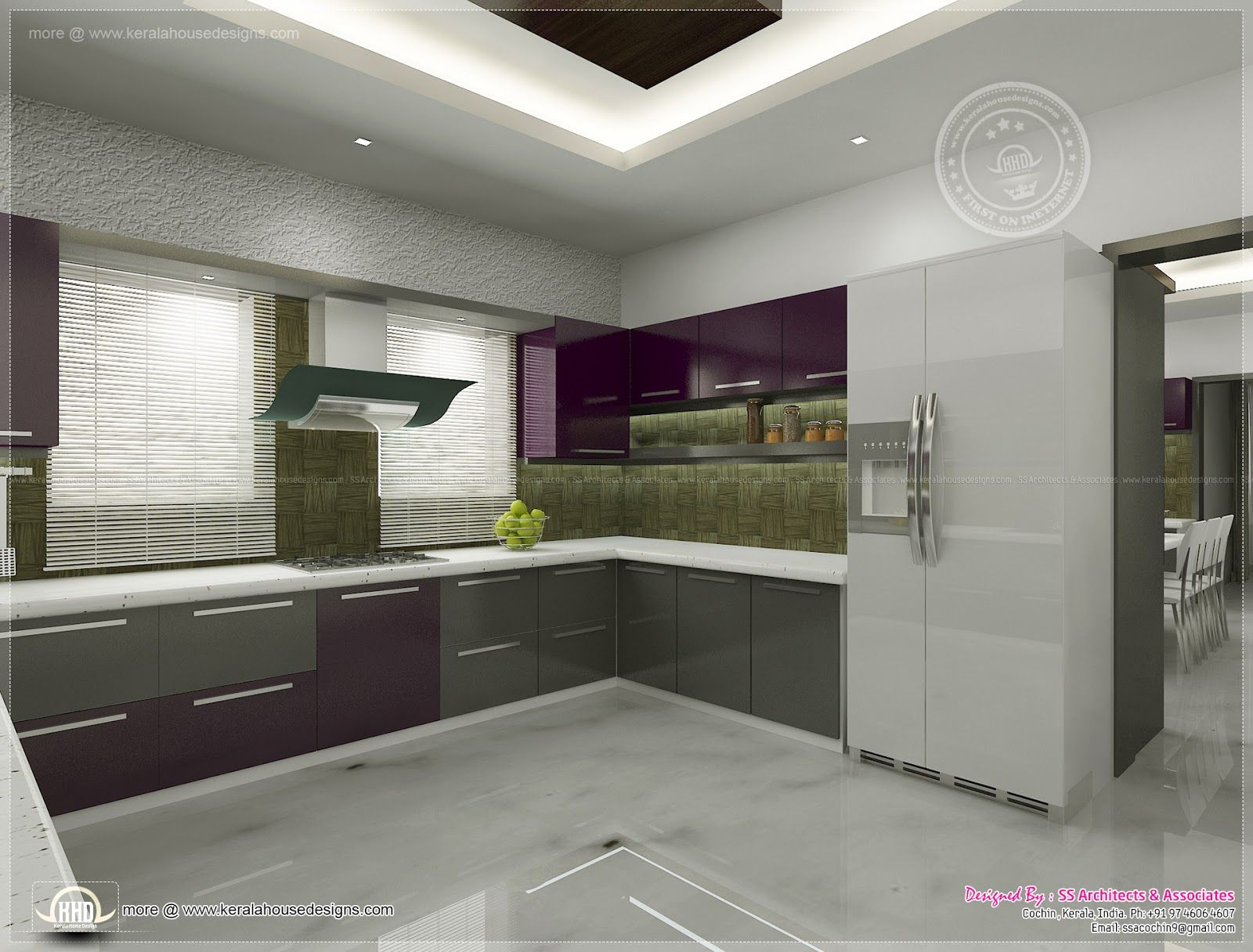 Kitchen Interior Views Ss Architects Cochin Kerala Home