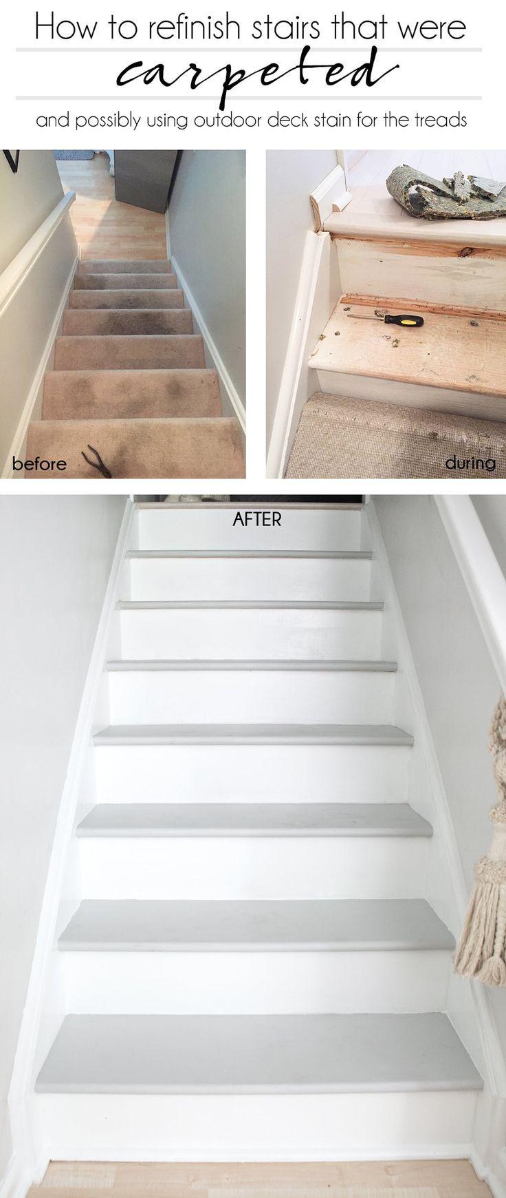 Best How To Refinish Stairs That Were Carpeted Refinish 400 x 300