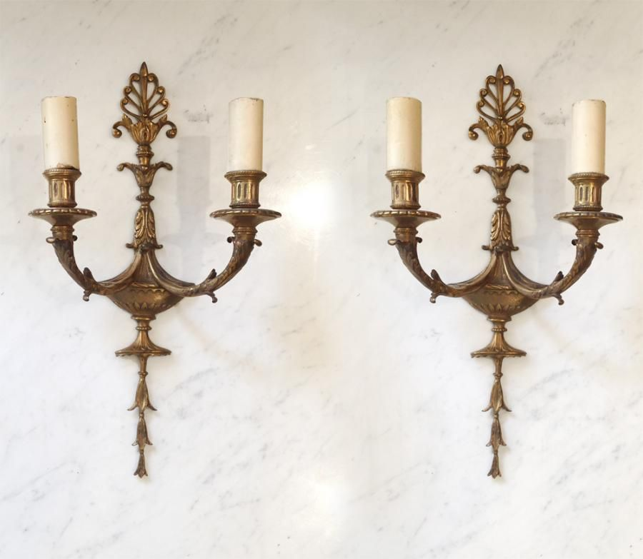 Antique Georgian Wall Sconces : Antique Georgian/Regency Adam style bras sconces Structure Pinterest Adam style