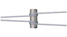 Torsion springs with a cylindrical wound are normally used for axial loads, that is a kind of circular movement.