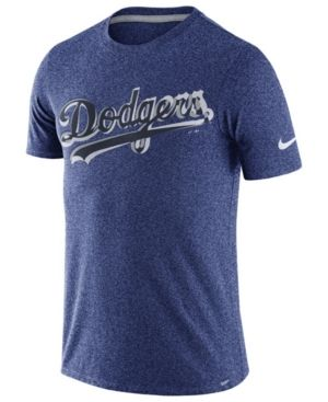 Nike Men's Los Angeles Dodgers Marled T-Shirt 1.7 - Blue