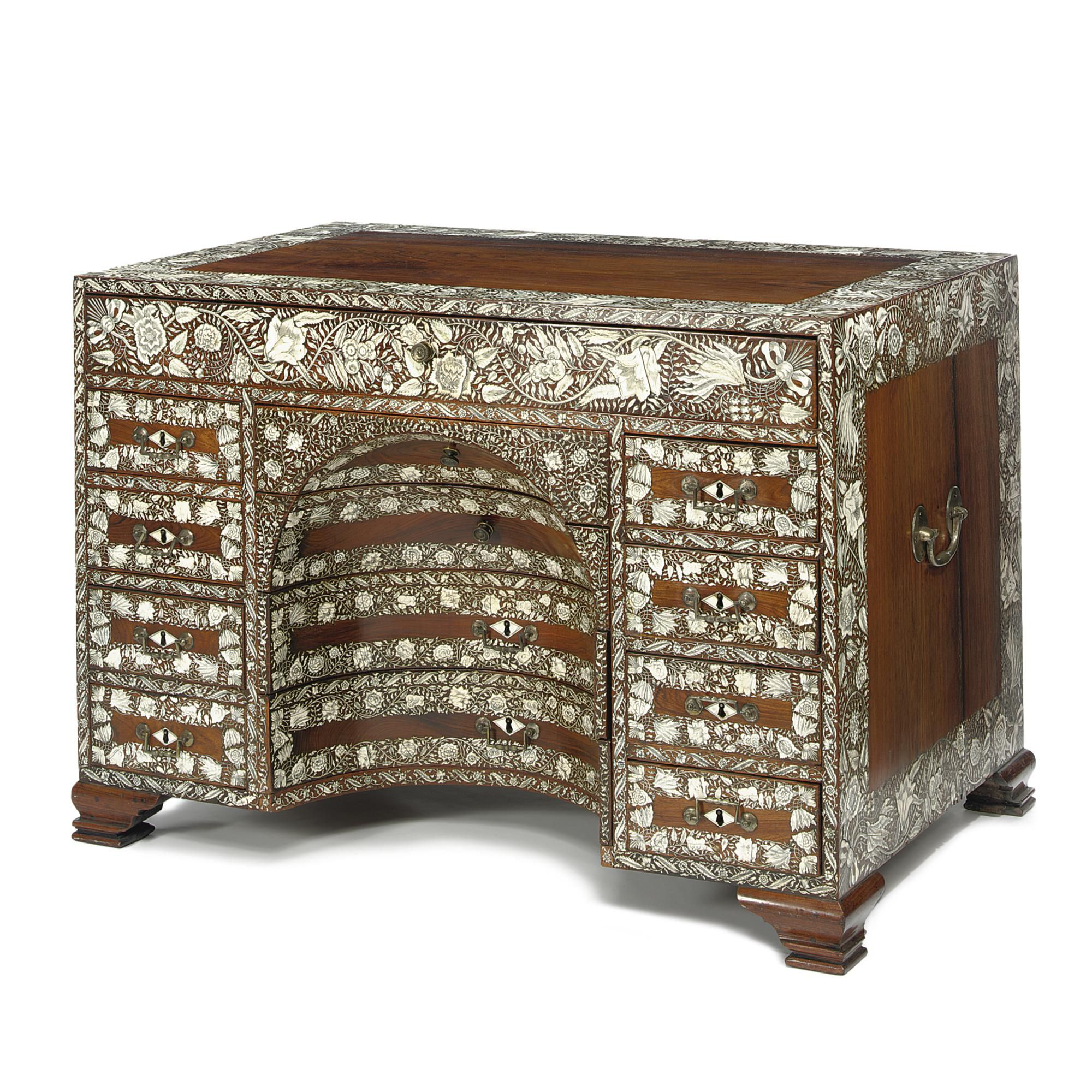 Muebles De La India A Highly Important Ivory Inlaid Rosewood Dressing Table