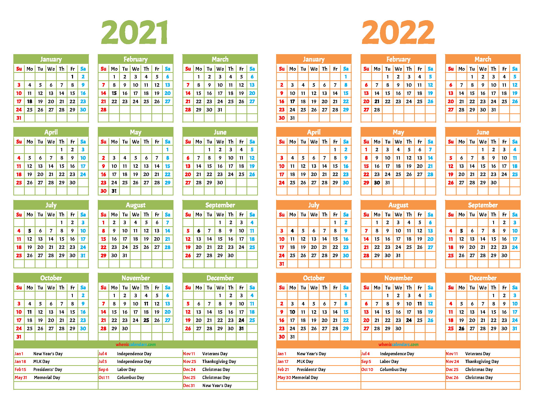 Usps Calendar 2022.Printable 2021 And 2022 Calendar 12 Templates Calendar Design Template Calendar Template Free Printable Calendar Monthly