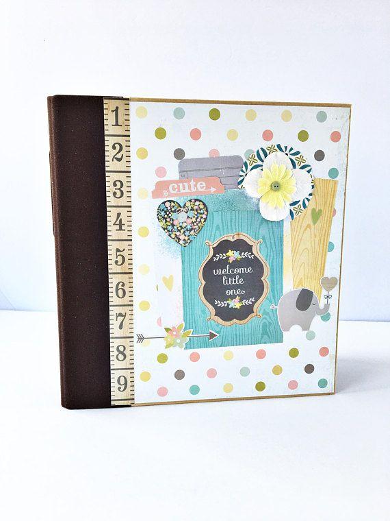 Baby Premade Scrapbook Album Baby Scrapbook Newborn Scrapbook