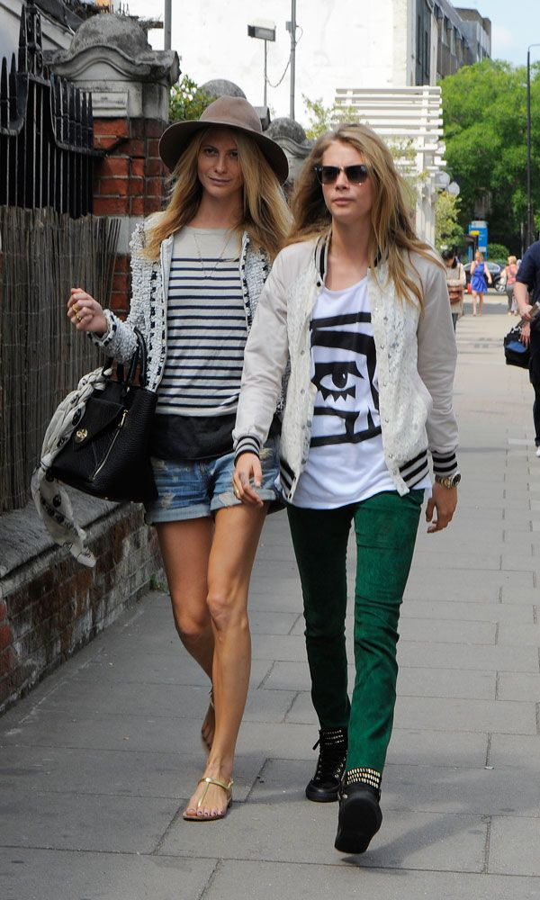 Poppy and Cara Delevingne, LOVE Caras outfit.