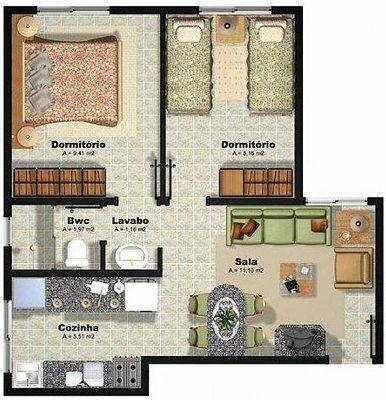 modelos de plantas de casas populares