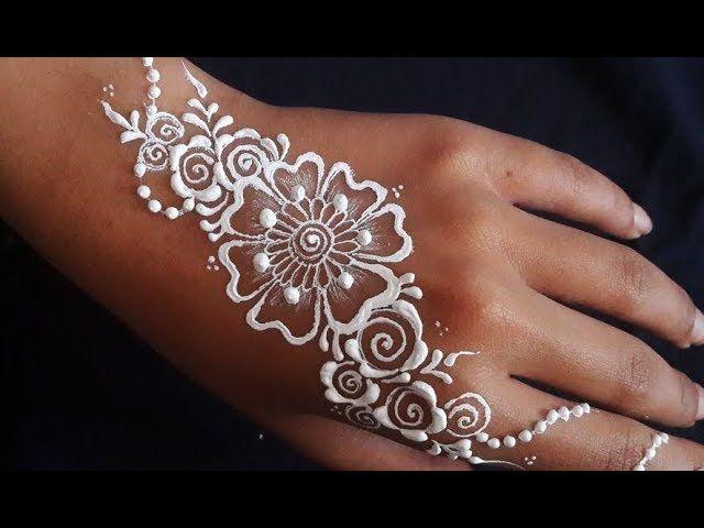 ᴴᴰ White Henna Bodypaint Art skik