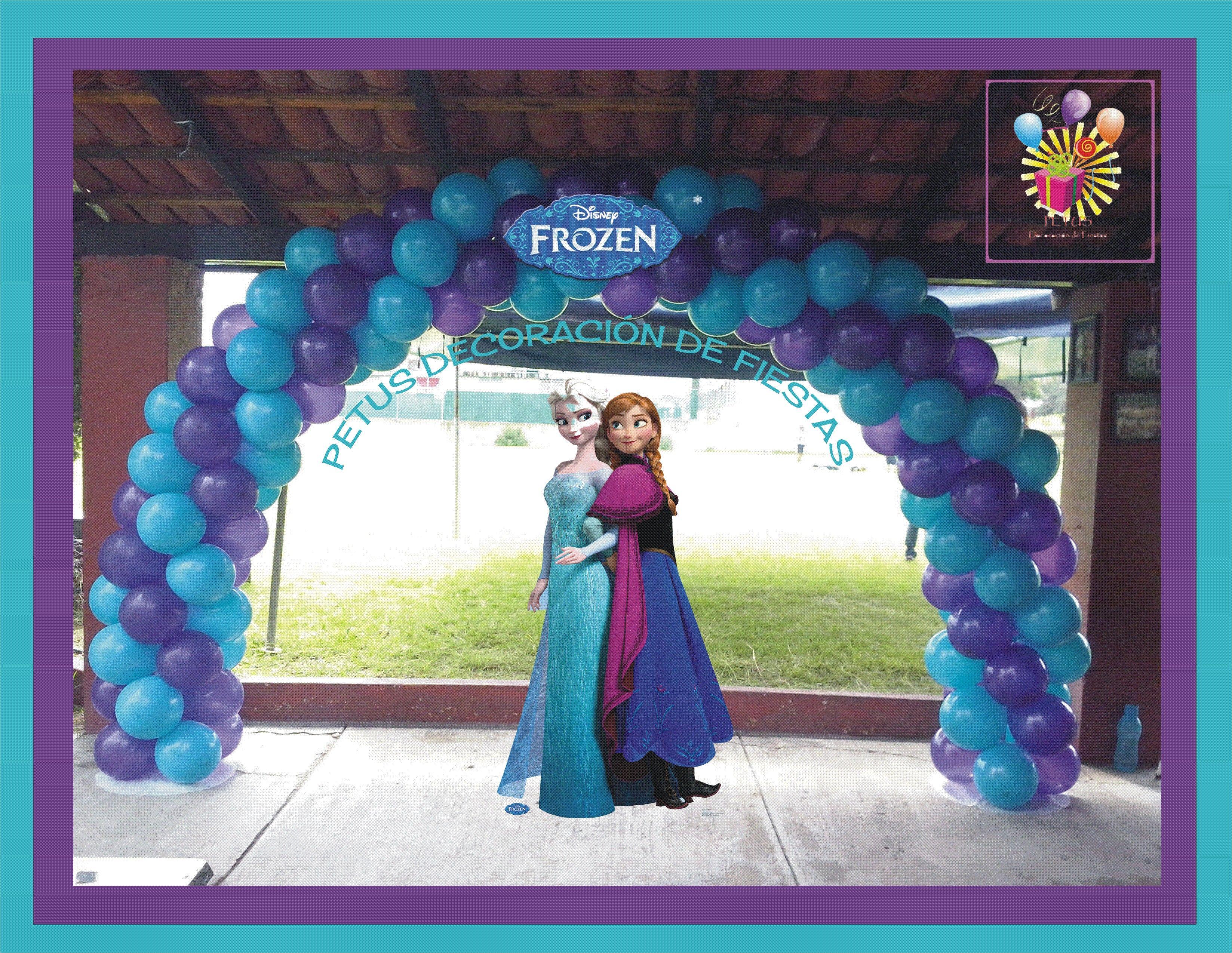 Arco de globos tema frozen globos cumplea os frozen - Globos fiesta cumpleanos ...