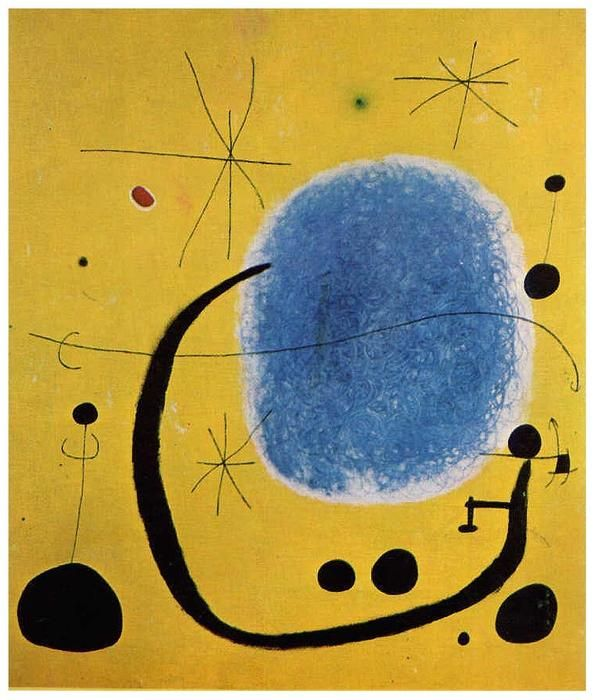 'The Gold of the Azure', Oil On Canvas by Joan Miro (1893-1983, Spain)