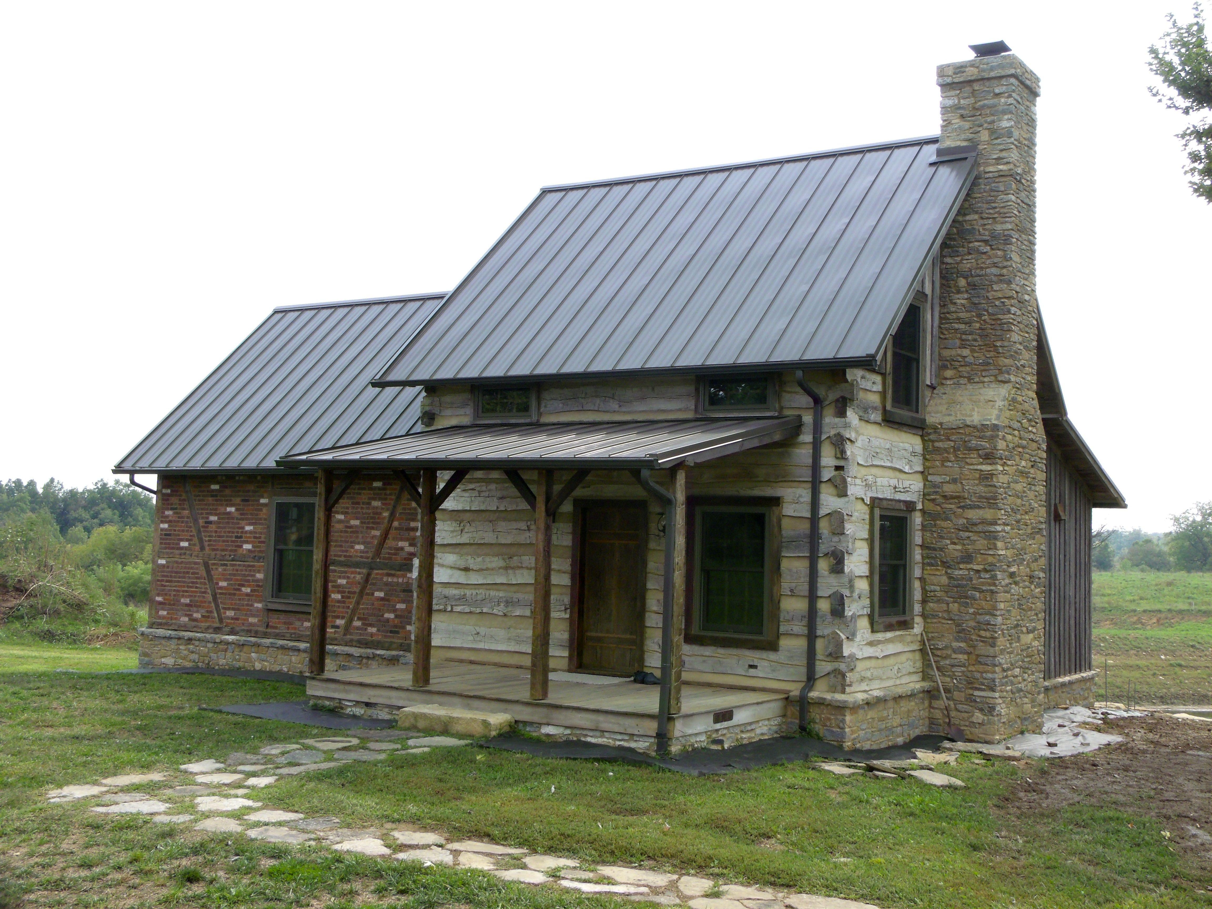 1820 39 s log barn with an english timber frame addition for Log home addition