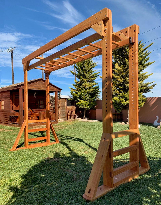 Sheldon S Monkey Bar Set Forever Redwood Diy Monkey Bars Backyard Monkey Bars Backyard diy monkey bars