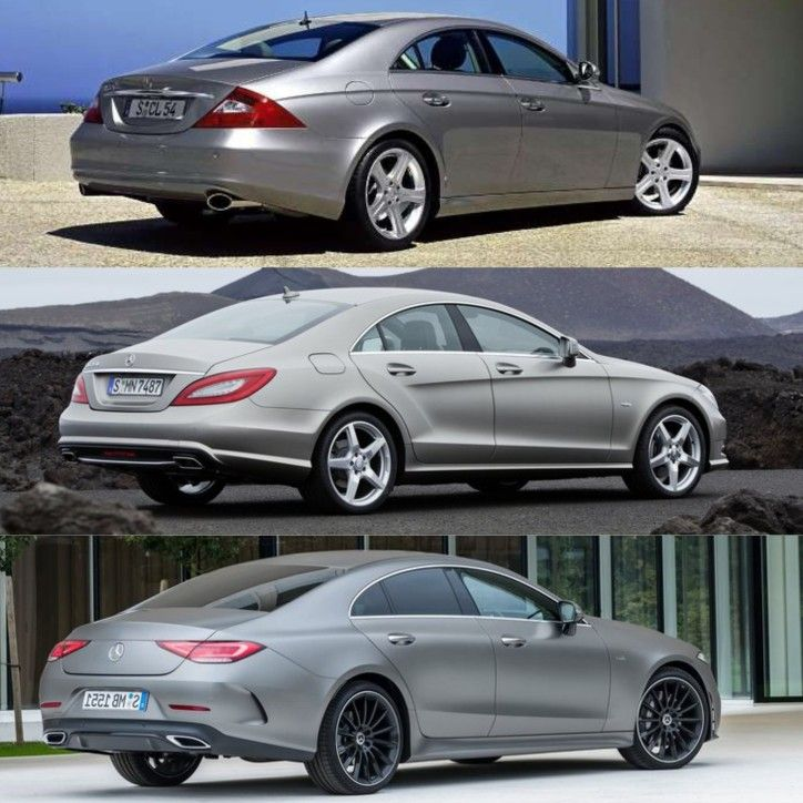 3 Generations Of Mercedes Benz CLS-Class. (2005-2012-2019
