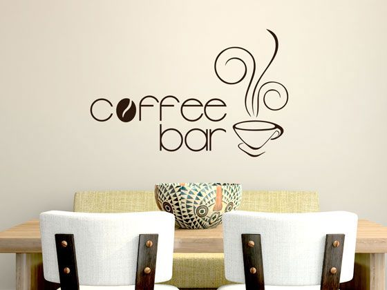 Wandtattoo Küche Schriftzug Coffeebar mit Kaffeetasse Wandtattoo