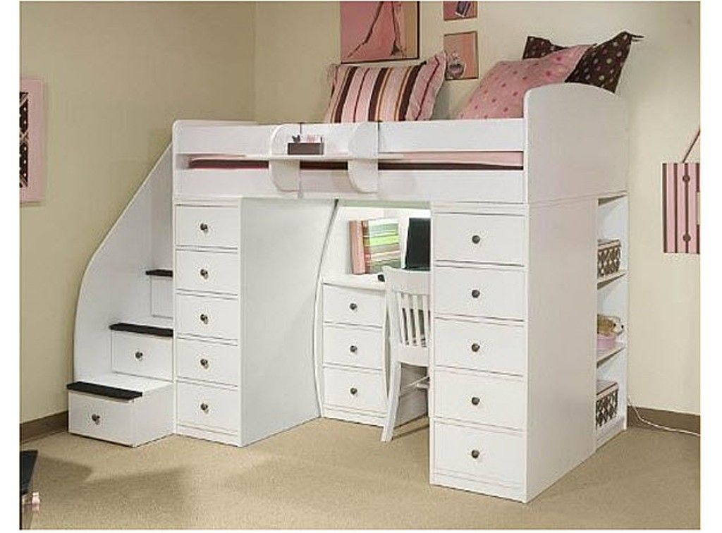 Full Size Loft Bed With Desk Underneath Frame Kids Loft Beds Twin Loft Bed Bed With Desk Underneath