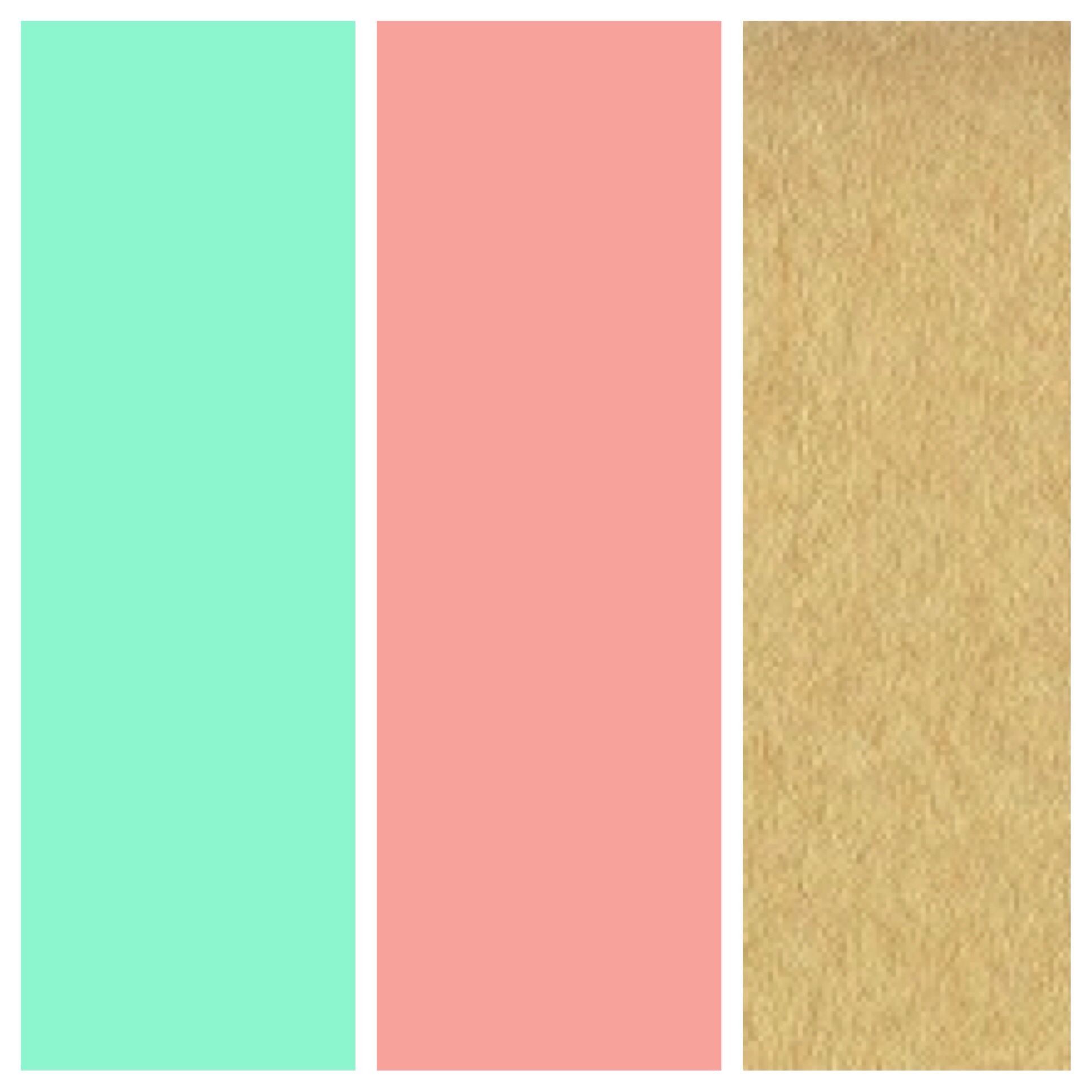 Love these as wedding colors! Mint green, coral, and gold... | Put A ...