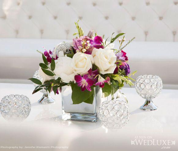 Flower Arrangements For Wedding Receptions: Short Wedding Reception Centerpieces