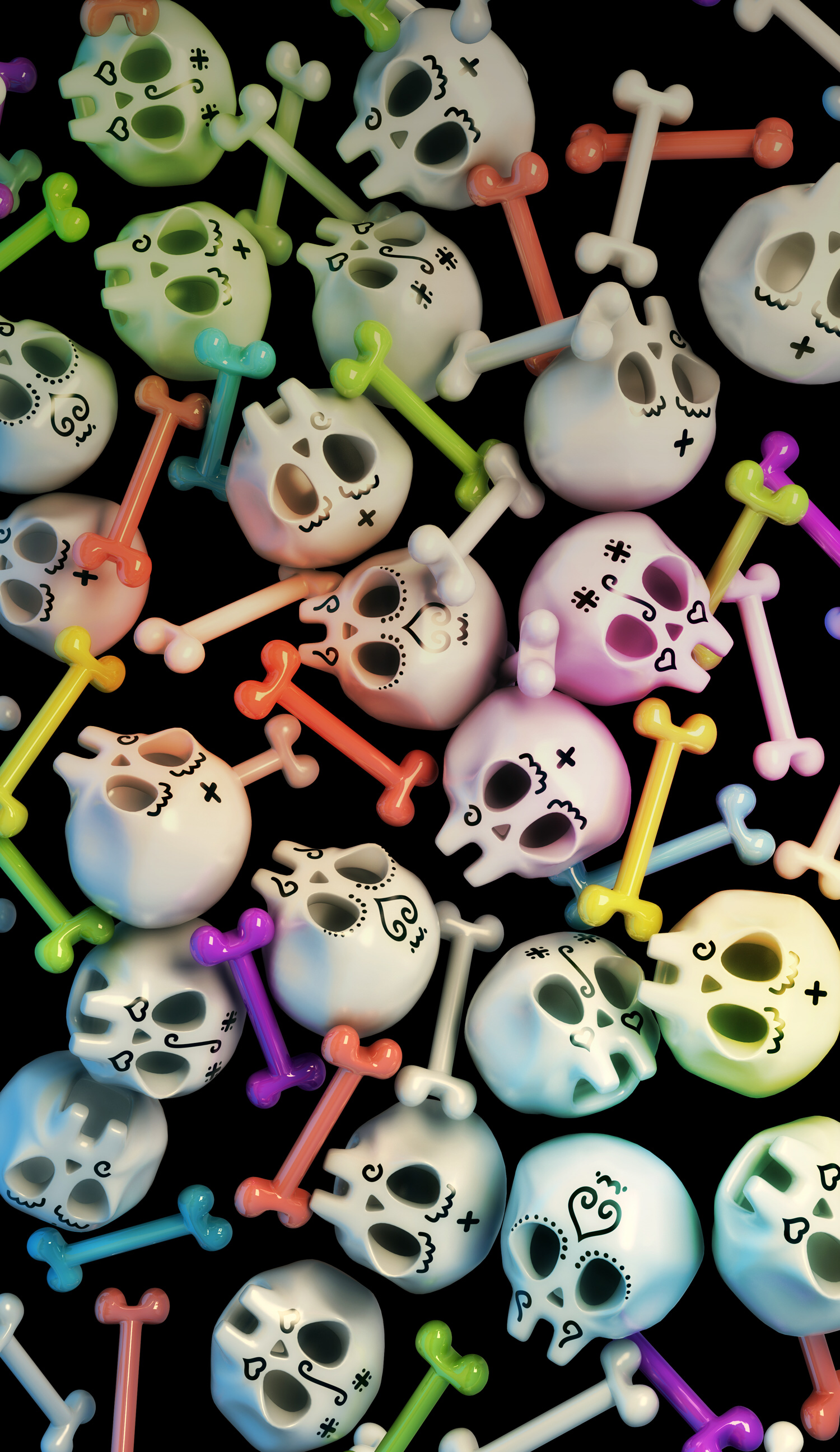 Pin by Amanda Lacy on Wallpapers Skull wallpaper iphone