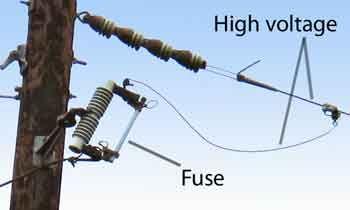 Fuse on power pole Knowledge Breaker box, Box, Utility
