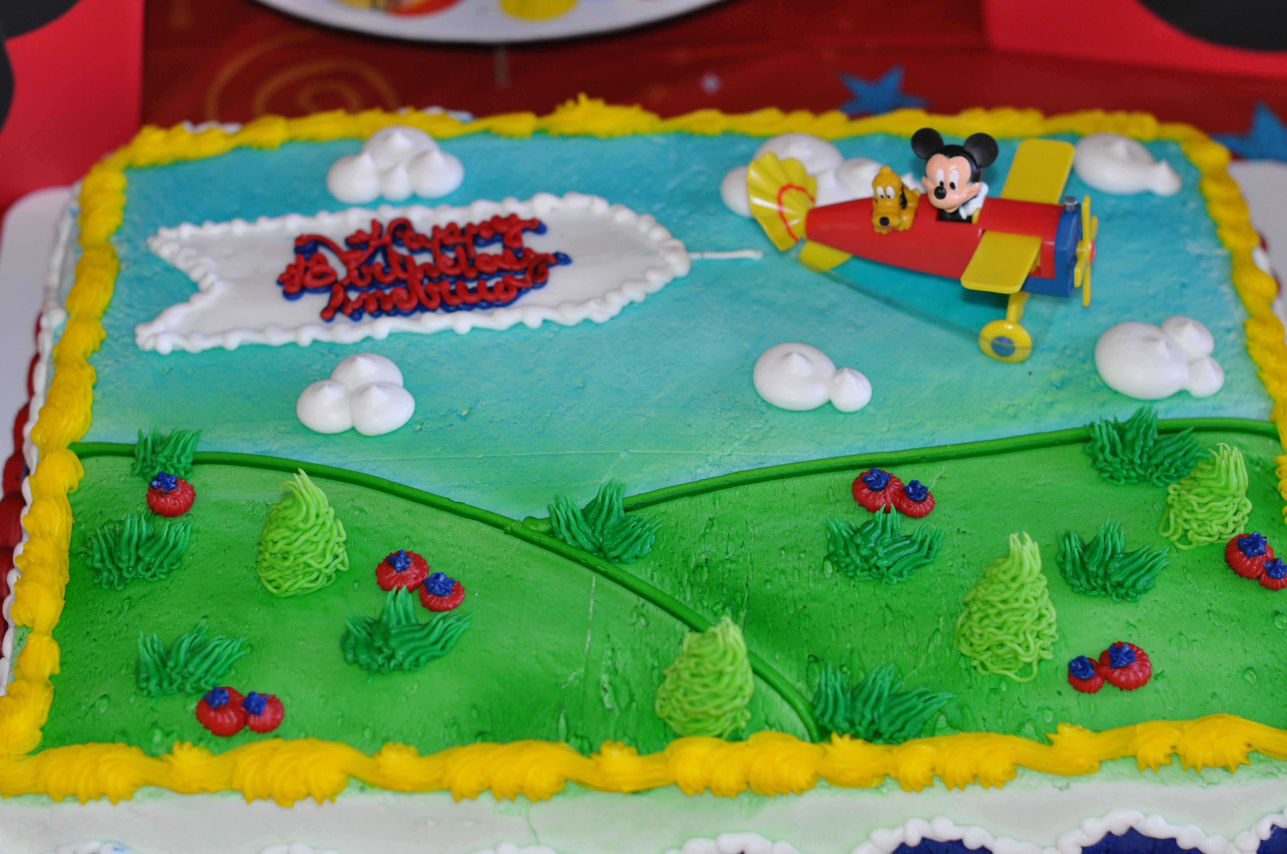 Mickey Mouse Airplane Cake