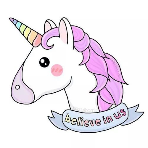 Unicorn Overlay And Believe Resmi Dibujos De Unicornios Tumblr