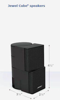 sold as each Black Bose Jewel cube speaker