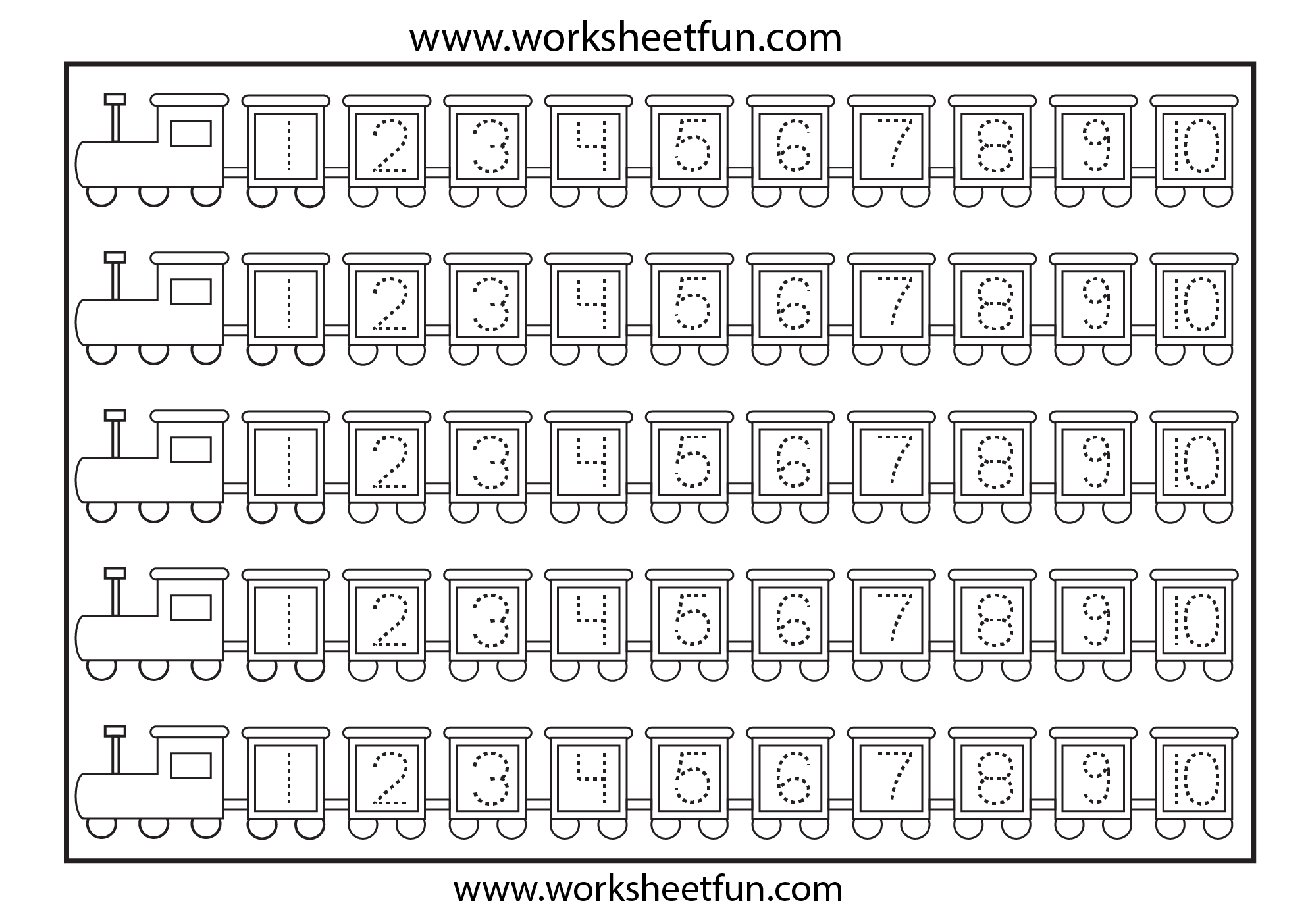 Worksheets Number Tracing Worksheets 1-10 number tracing 1 10 kindergarten ideas pinterest 10