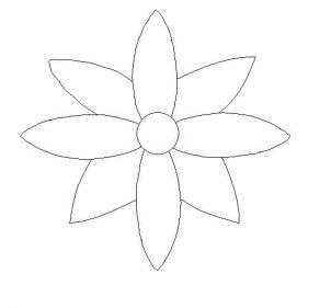 Simple Flower Pictures To Draw How To Draw A Flower Easy Step By