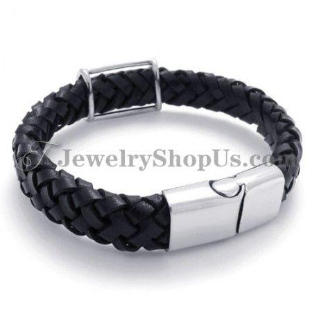 Fashion Titanium Leather Bracelet