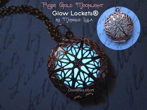 Glowies.net - Rose Gold Moonlight Mystic Round Glow Locket®