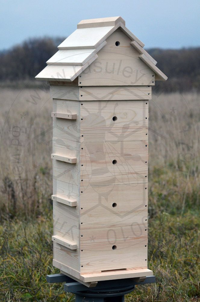 Warre Hive Vertical Top Bar Hive 4 Bodies Gable Wooden Roof | eBay ...