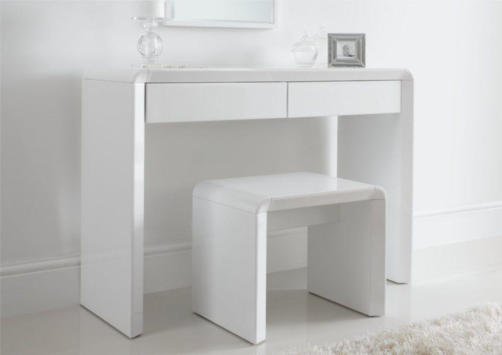 White Gloss Bedroom Dressing Table