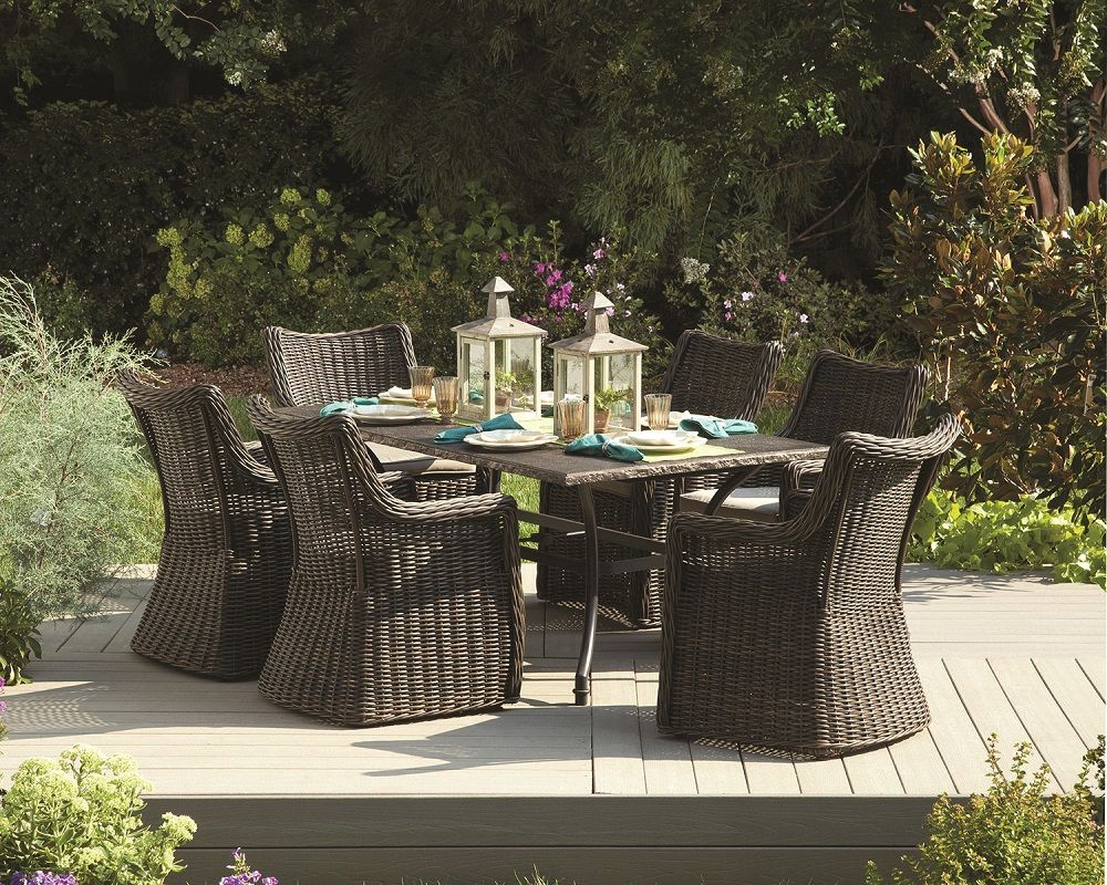 """allen + roth 70"""" x 40"""" Waterlyn Rectangle Outdoor Dining ..."""