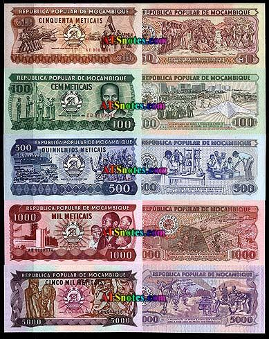 Mozambique banknotes - Mozambique paper money catalog and Mozambique currency history